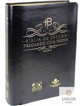 Bíblia de Estudo Pregando com Poder - capa preta. 9788531116872. Adelson Damasceno Santos