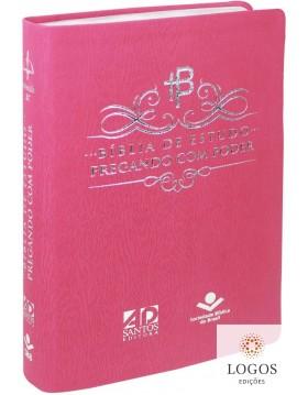 Bíblia de Estudo Pregando com Poder - capa rosa. 7899938411193. Adelson Damasceno Santos