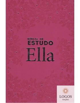 Bíblia Sagrada de Estudo Ella - ARC - capa semi-flexível - Rosa. 7897185853810