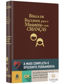 Bíblia de Recursos para o Ministério com Crianças - capa luxo - castanha. 9788577423033