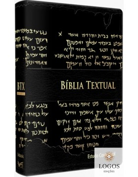 Bíblia Textual - Estudo Contextual - capa luxo preto. 9786587393001