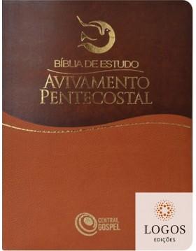 Bíblia de Estudo Avivamento Pentecostal - capa castanha. 7898410729177