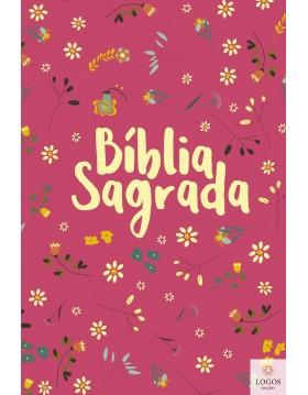 Bíblia Sagrada - NVT - capa dura - Pequeno jardim pink. 7898665820407