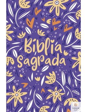 Bíblia Sagrada - NVT - capa dura - Jardim da vida roxo. 7898665820384