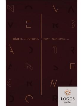 Bíblia de Estudo NVT - capa vinho. 7898950265876