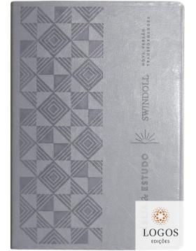 Bíblia de Estudo Swindoll - NVT - capa luxo cinza. 9788543304205. Charles Swindoll