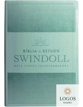 Bíblia de Estudo Swindoll - NVT - capa luxo verde-água. 7898665820568. Charles Swindoll