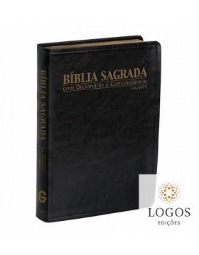 Bíblia Sagrada - RC - letra gigante com dicionário e concordância - capa luxo preta. 7897185849608