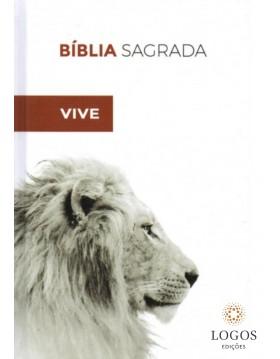 Bíblia Sagrada - ACF - capa dura - Branca Ele vive. 9788573803839