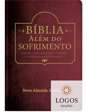 Bíblia Além do Sofrimento - NAA - capa luxo - Vinho. 9788526319745