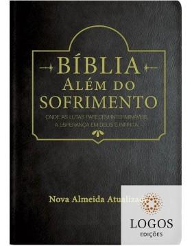 Bíblia Além do Sofrimento - NAA - capa luxo - Preta. 9788526319745