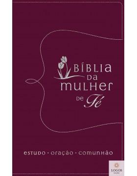 Bíblia da mulher de fé - NVI - couro soft vermelho. 9788571671188. Sheila Walsh