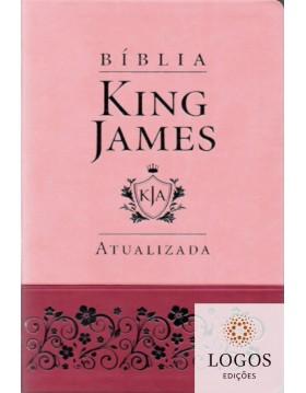 Bíblia King James Atualizada - capa slim - luxo rosa. 6015924371345