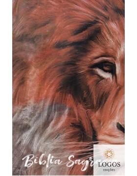 Bíblia Sagrada - ACF - capa dura - slim - Leão textura. 9786588364222