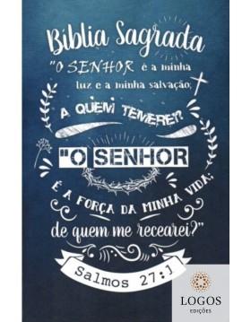 Bíblia Sagrada - ACF - capa dura - slim - Lettering azul. 9786588364192