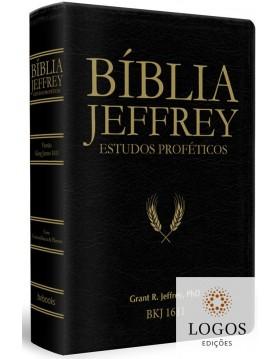 Bíblia Jeffrey de Estudos Proféticos - Capa luxo preto dourado. 9786586996227