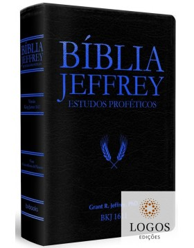 Bíblia Jeffrey de Estudos Proféticos - Capa luxo azul. 9786586996234