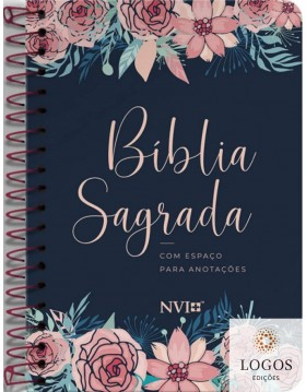 Bíblia Anote - NVI - letra grande - capa espiral - rosas. 9786556550633