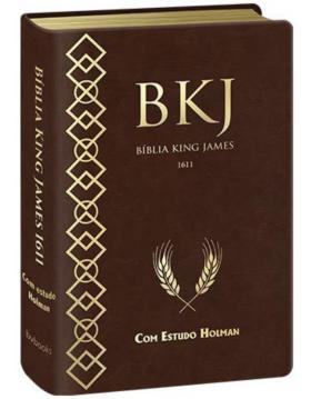 Bíblia de Estudo King James 1611 (com Estudo Holman) - capa castanha. 9788581581873