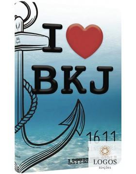 Bíblia King James 1611 - capa ultra-fina - Lettering Bible - I love BKJ. 9786586996159