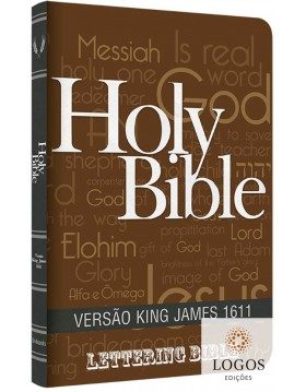 Bíblia King James 1611 - capa ultra-fina - Lettering Bible - Holy Bible. 9786586996203