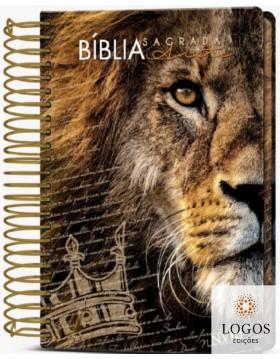 Bíblia Anote - NVI - letra grande - capa espiral - leão coroa. 9786588364048
