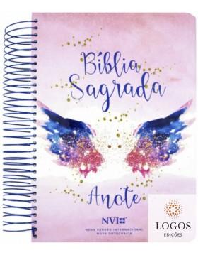 Bíblia Anote - NVI - letra grande - capa espiral - asas do pensamento. 9786556550909