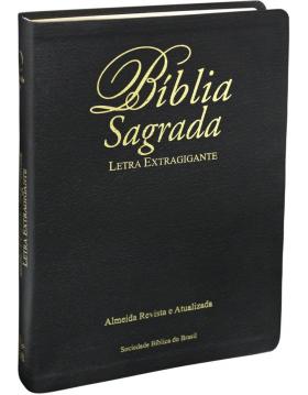 Bíblia com letra extra-gigante - com índice digital - capa preta