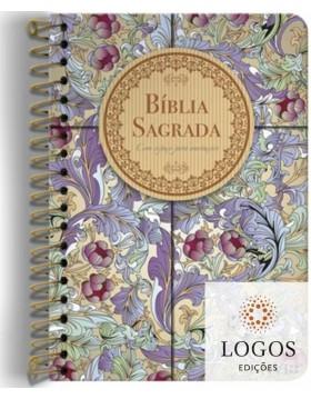 Bíblia Anote - NVI - letra grande - capa espiral - calamo e canela. 9786556550275
