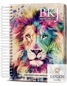 Bíblia King James Fiel 1611- Anote - letra grande - capa espiral - lion colors. 9786588364055