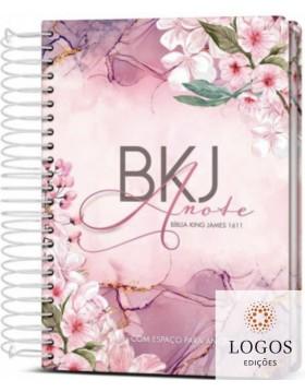 Bíblia King James Fiel 1611- Anote - letra grande - capa espiral - purple flower. 9786588364062