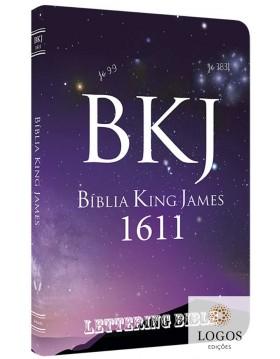 Bíblia King James 1611 - capa ultra-fina - Lettering Bible - Universo. 9786586996173