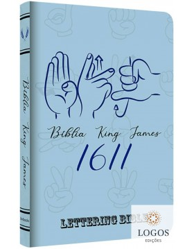 Bíblia King James 1611 - capa ultra-fina - Lettering Bible - Sinais. 9786586996098