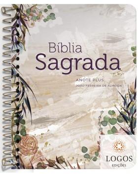 Bíblia Anote Plus - ARC - letra grande - capa espiral - flor marmorizada. 9786556550619