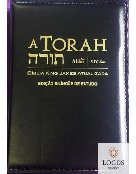 A Torah - edição bilíngue de estudo - King James Atualizada - capa luxo. 9788578570101