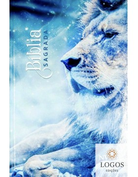Bíblia Sagrada - NVI - capa dura slim - Leão gelo. 9786581117061