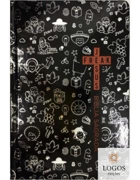 Bíblia Jesus Freak - NVI - capa dura - Cartoon preta. 9788592030995