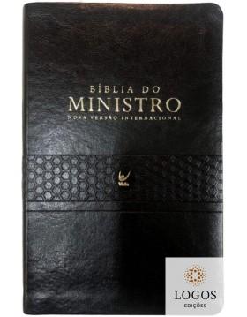 Bíblia de Estudo do Ministro - NVI -  capa PU - preta. 9788000003658