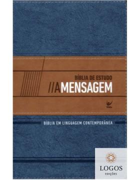 Bíblia de Estudo A Mensagem - azul e bege. 9788000003573. Eugene Peterson
