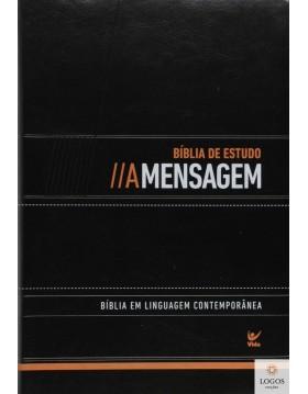 Bíblia de Estudo A Mensagem - luxo - preto. 9788538303114