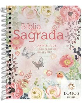 Bíblia Anote Plus - ARC - letra grande - capa espiral - clássica virtuosa. 9786556550992