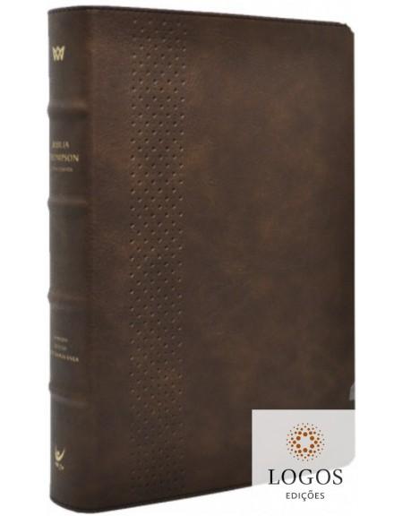 Bíblia Thompson - AEC - letra grande - edição de colecionador - capa luxo castanha. 9788000004563