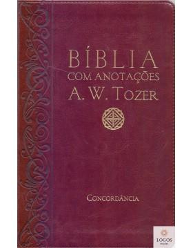 Bíblia com Anotações A.W. Tozer - capa vinho. 7899938409275