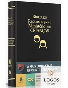 Bíblia de Recursos para o Ministério com Crianças - capa luxo - preta. 9788589320245. GAYLE KLOCK