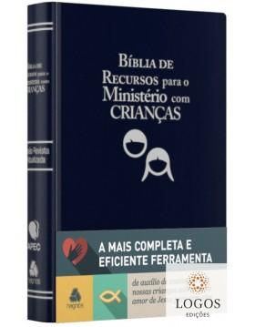 Bíblia de Recursos para o Ministério com Crianças - capa luxo - azul. GAYLE KLOCK. 9788577421237
