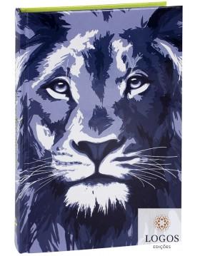 Bíblia Sagrada - ARC - capa dura - Leão beira azul. 7899938414569