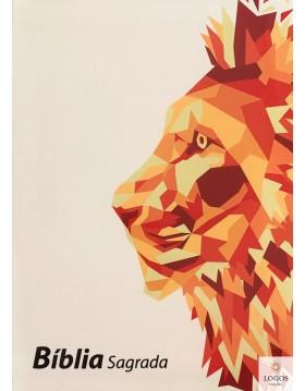 Bíblia Sagrada - ARC - capa branca leão. 9789896502256