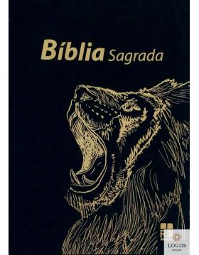 Bíblia Sagrada - ARC - capa preta leão amarelo. 9789896502287