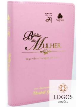 Bíblia da mulher segundo o coração de Deus - capa rosa. 6015924325386. Elizabeth George