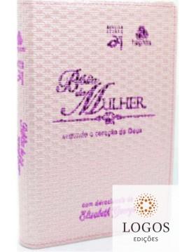 Bíblia da mulher segundo o coração de Deus - capa rosa claro. 6015924325362. Elizabeth George